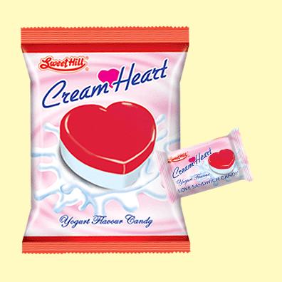 Cream Heart Yougart Small Bag