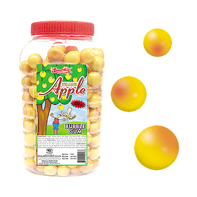 Yellow Apple Bubble Gum